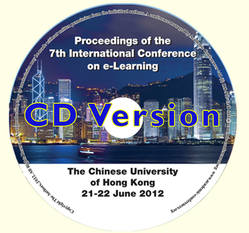 <!--100-->ICEL 2012 Proceedings of the 7th International Conference on e-Learning, Hong Kong, China CD version