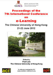 <!--101-->ICEL 2012 Proceedings of the 7th International Conference on e-Learning, Hong Kong, China PRINT version