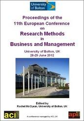 <!--095-->ECRM 2012 Proceedings of the 11th European Conference on Research Methodology for Business and Management  Studies, Bolton, UK Print version