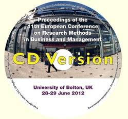 <!--094-->ECRM 2012 Proceedings of the 11th European Conference on Research Methodology for Business and Management  Studies, Bolton, UK CD version