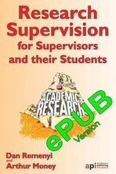 Research Supervision for Supervisors and their Students ePUB version