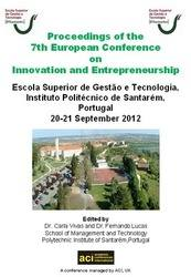 <!--089-->ECIE 2012 Proceedings of the  7th European Conference on Innovation and Entrepreneurship PRINT version