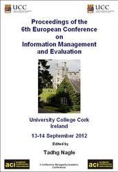 ECIME 2012 Proceedings of the 6th European Conference on Information Management and Evaluation, Ireland PRINT version