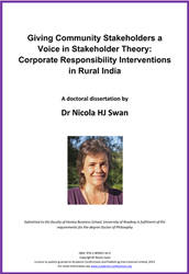 <!--040-->Giving Community Stakeholders a Voice in Stakeholder Theory: Corporate Responsibility Interventions in Rural India  by Dr Nicola H. J. Swan