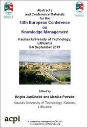 <!--167-->ECKM 2013 14th European Conference on Knowledge Management  PRINT version 2 Volume set