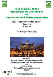 <!--163-->ECIE 2013 8th Europen Conference on Innovation and Entrepreneurship PRINT version 2 Volume set