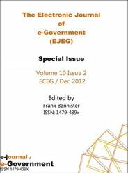 EJEG Electrronic Journal on e-Government  Volume 10 Issue 2 PRINT version