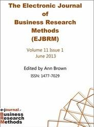 EJBRM Electronic Journal of Business Research Methods Volume 11 Issue 1 PRINT version