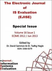 EJISE Electronic Journal of Information Systems Evaluation Volume 16 Issue 1 PRINT version