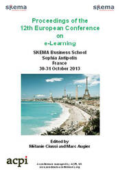 <!--155-->ECEL 2013 12th European Conference on eLearning PRINT version