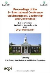 <!--098-->ICMLG 2014 2nd International Conference on Management, Leadership and Governance PRINT version