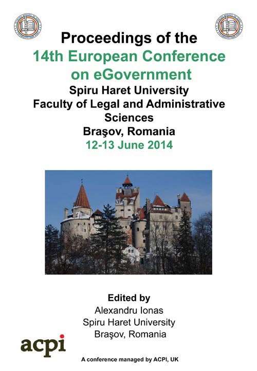 ECEG 2014 14th European Conference on eGovernment ECEG 2014 PRINT version