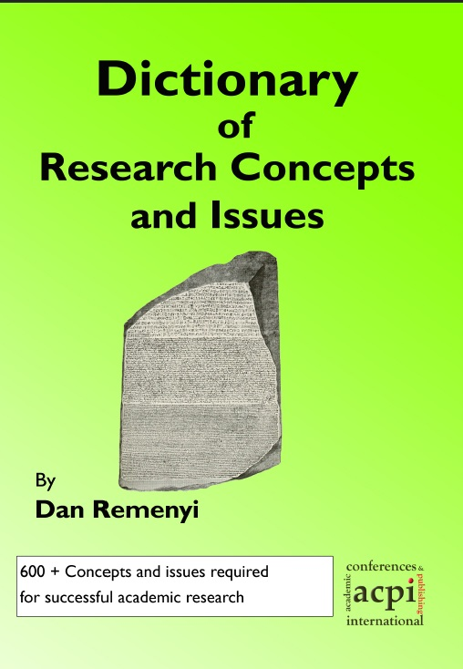 Dictionary of Research Concepts and Issues  PRINT version