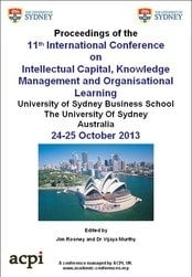 <!--039-->ICICKM 2014 11th International Conference on Intellectual Capital,  Knowledge Management  And Organisational Learning  Sydney, Australia