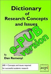 Dictionary of Research Concepts and Issues ePUB version