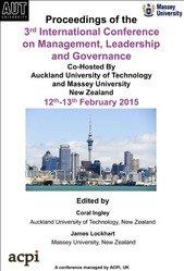 <!--900--> ICMLG 2015 3rd International Conference on Management Leadership and Governance Auckland, New Zealand PRINT version ISBN: 978-1-910309-85-8
