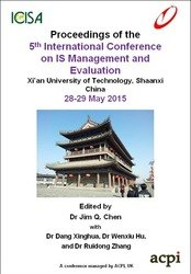 <!--590--> ICIME 2015 5th International Conference on IS Management and Evaluation - Shaanxi, China ISBN: 978-1-910810-07-1 ISSN: 2048-9846