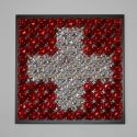 swiss flag ( metallic )