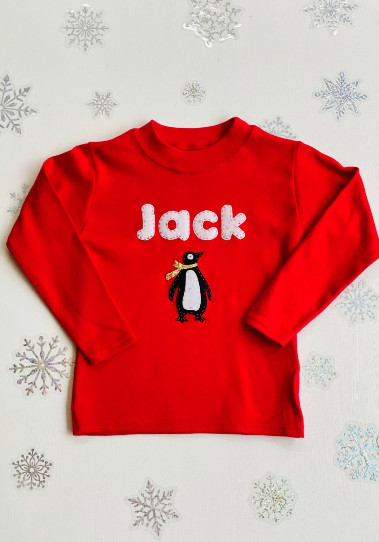 Personalised Christmas Motif Tshirt