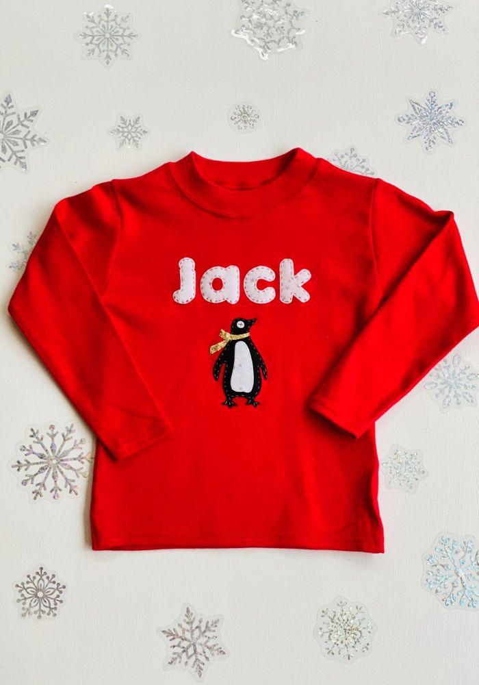 Personalised Christmas Motif T-shirt