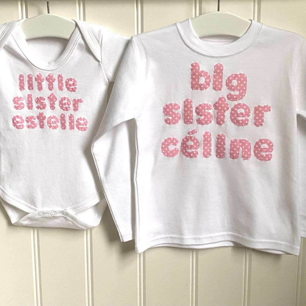 Named big sister/big brother and little sister/little brother Gift Set