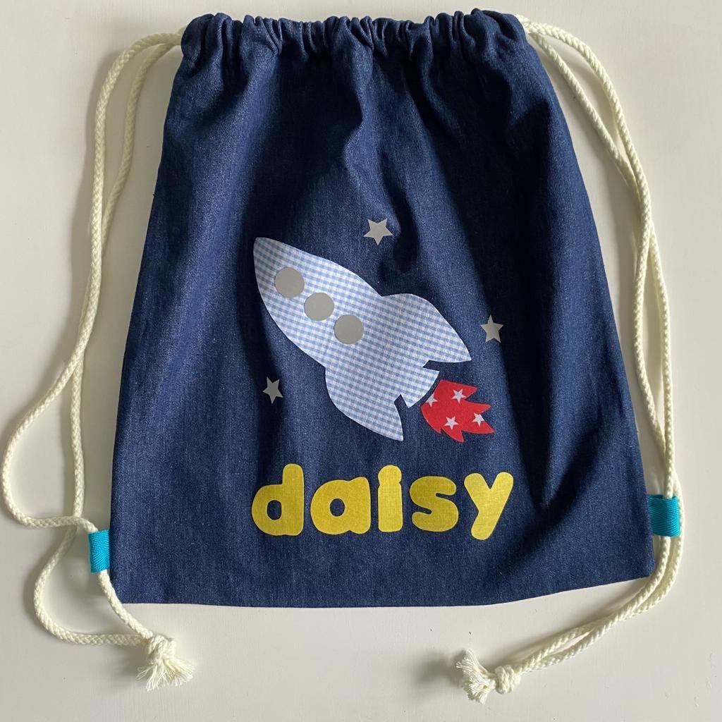 Personalised Children's Fabric Shoe Bag