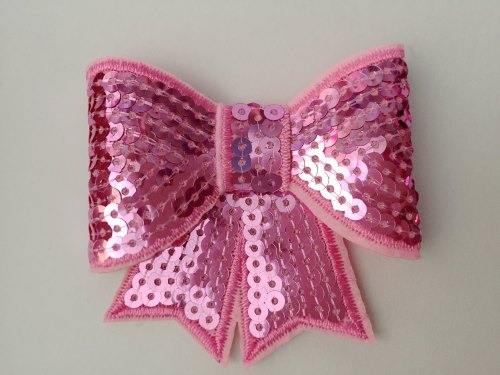 70mm Sequin Bow - Pink