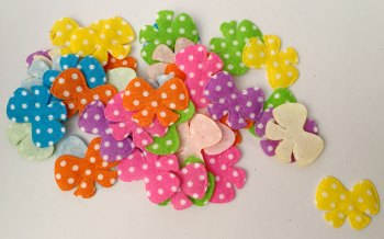 SALE 25 x Appliqué Polka Dot Bows