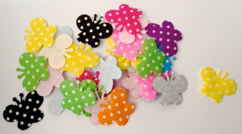 SALE 25 x Appliqué Polka Dot Butterflies