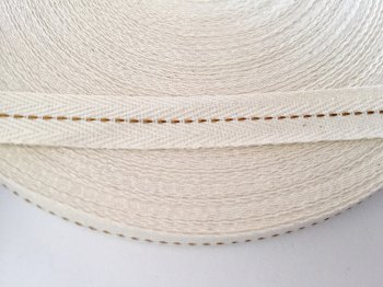 15mm Rustic Herringbone Centre Stitch - Antique Gold