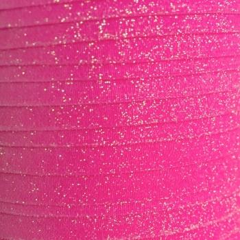 Fold Over Elastic - Glitter - Hot Pink