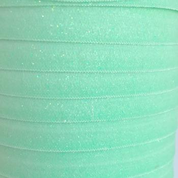 Fold Over Elastic - Glitter - Mint