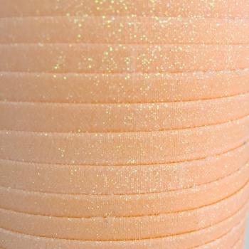 Fold Over Elastic - Glitter - Peach