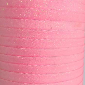 Fold Over Elastic - Glitter - Pink