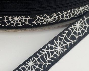 9mm Cobweb Ribbon - Black