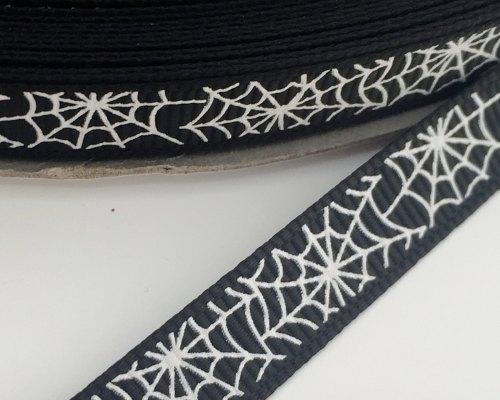 9mm Cobweb Ribbon - Black