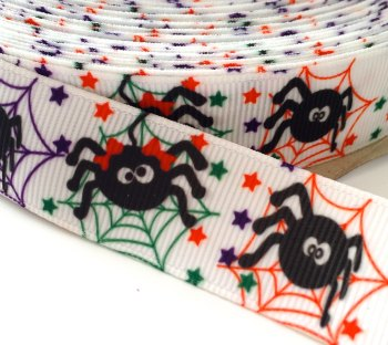 22mm Halloween Spider Ribbon