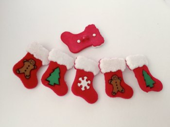SALE Dress It Up - Christmas - Stocking Buttons Pack