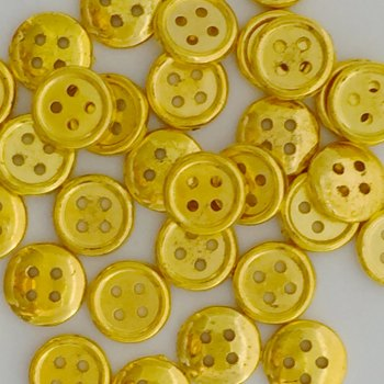 SALE 20 x 13mm Christmas Gold 4 hole Buttons