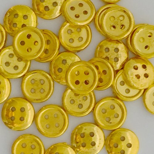 13mm Christmas Gold 4 hole Buttons