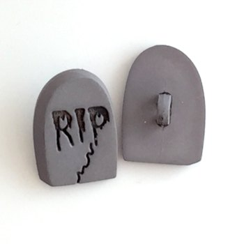 SALE RIP Tombstone Button