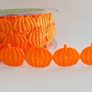 Half Metre Satin Cut Out - Pumpkins