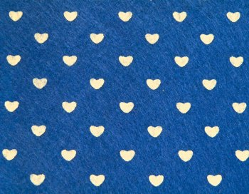 Acrylic Patterned Felt Sheet - Hearts - Navy Blue