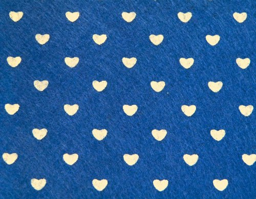 Patterned Felt - Hearts - Sheet - Navy Blue