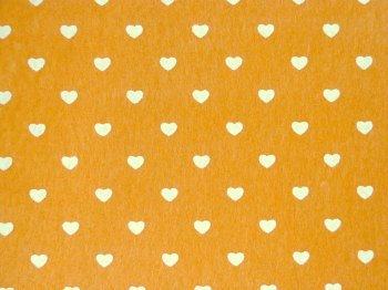 Acrylic Patterned Felt Sheet - Hearts - Sunflower