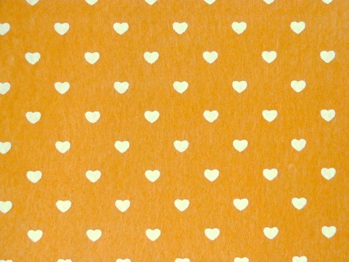 Patterned Felt - Hearts - Sheet - Sunflower