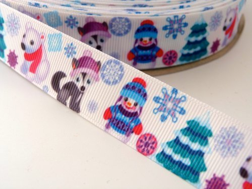 22mm Christmas Cute North Pole Ribbon