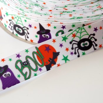 22mm Halloween BOO Ribbon