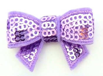 SALE Mini Sequin Bow - Lilac