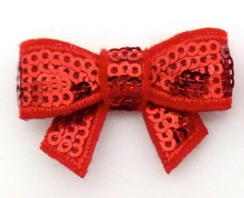 SALE Mini Sequin Bow - Red